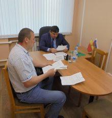 Руководитель управы Левобережного района Олег Копытин провел  прием граждан