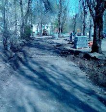 В Левобережном районе началось благоустройство дворов