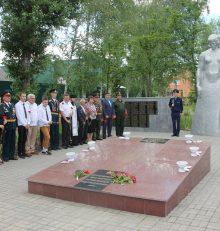 В Левобережном районе в День памяти и скорби прошла Всероссийская патриотическая акция «Горсть памяти»