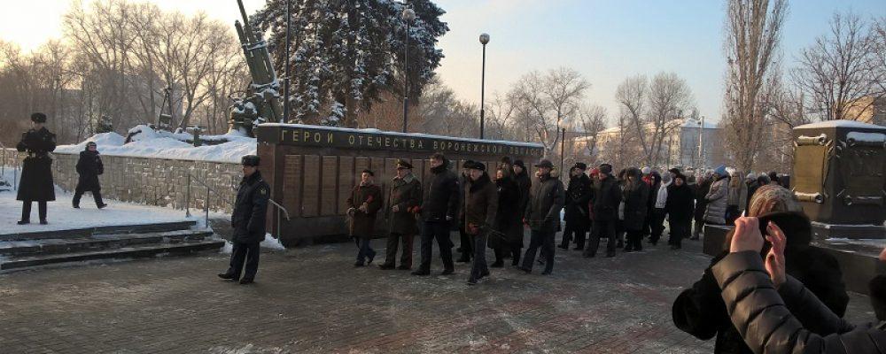 В Левобережном районе прошли мероприятия, посвященные 76-й годовщине освобождения Воронежа от фашистских захватчиков