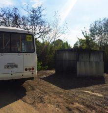 В Левобережном районе установили остановочный павильон на остановке «Тополя-2»