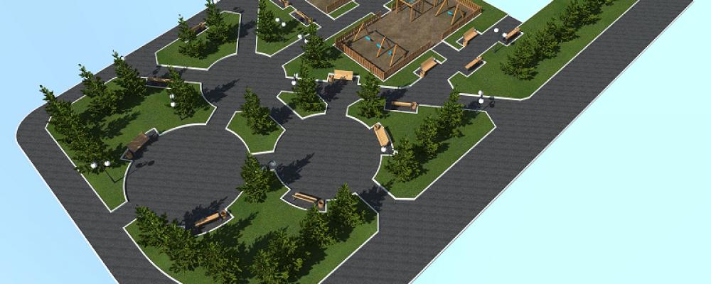 Проект благоустройства сквера в Левобережном районе — победитель конкурса в рамках развития инициативного бюджетирования