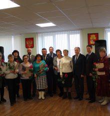 В управе Левобережного района торжественно поздравили председателей комитетов территориального общественного самоуправления с наступающими новогодними праздниками.