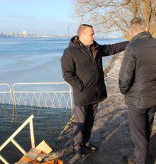 В канун Крещения Господня в Левобережном районе оборудуют место традиционного купания жителей
