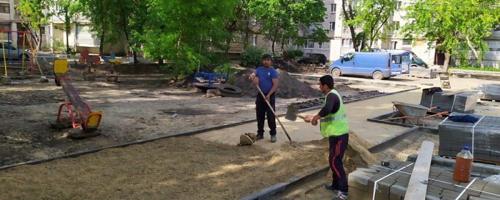 В Левобережном районе продолжается благоустройство дворов