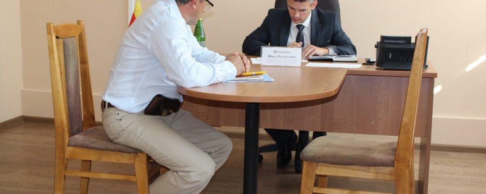 И.о. руководителя управы Левобережного района Иван Молоканов провел  прием граждан