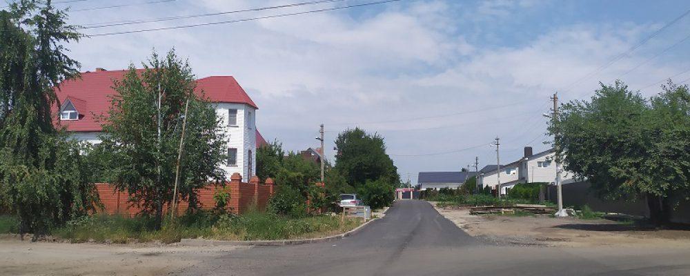 В Левобережном районе завершили ремонт дороги в частном секторе