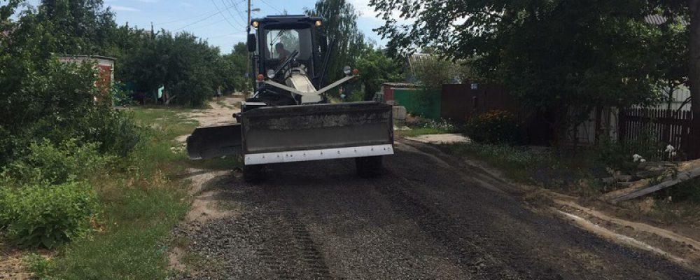 В Левобережном районе ведется ремонт улиц частного сектора асфальтовым срезом