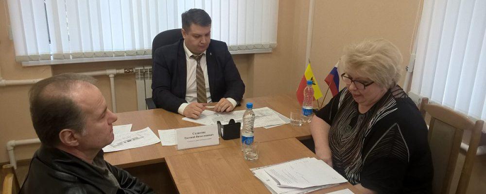 Руководитель управы Левобережного района Евгений Селютин провел очередной прием граждан