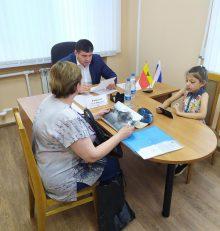 Руководитель управы Левобережного района Олег Копытин провел  очередной прием граждан