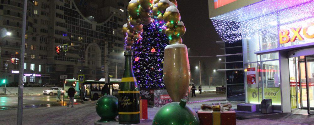 В Левобережном  районе приступили к праздничному оформлению территории